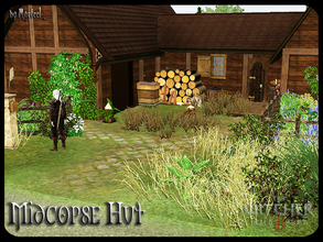 Sims 3 — Midcopse Hut by murfeel — The home of the local village wise woman. Deep in the heart of the Velen boondocks,