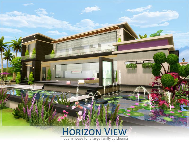 Lhonna 39 s horizon view for Big modern house sims 4