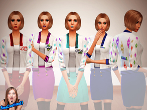 Sims 4 — Sims Series Jacket - Get Together needed by SIMSCREATIONS13 — The sims, sims 2, sims 3 and sims 4 are written on