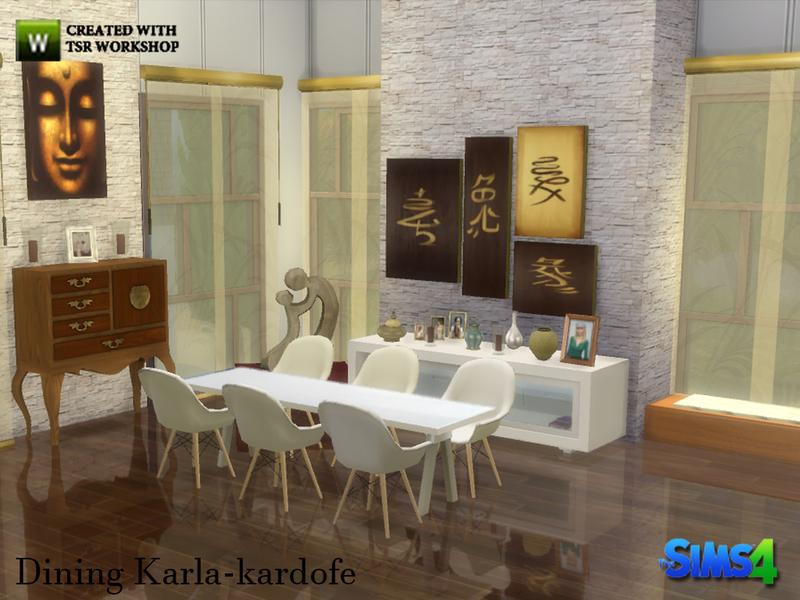 Kardofe dining karla for Sims 4 dining room ideas