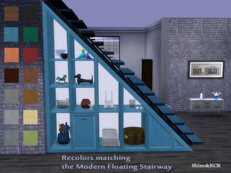 Bon Under Stair   Shelves Recolors