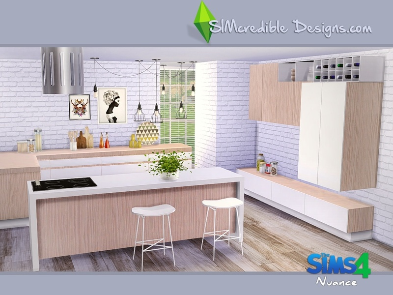 Simcredible 39 s nuance for Cc kitchen cabinets