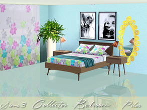 Sims 3 — Collector Bedroom by Pilar — Mix of styles, current furniture, a vintage note and an exotic touch