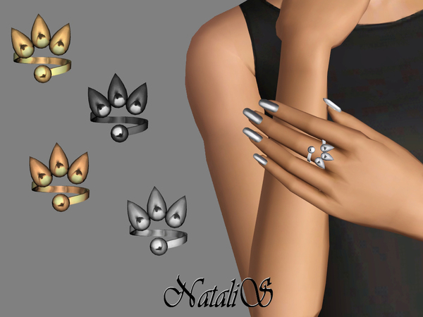 TS3 Metal spikes ring FA-YA by NataliS