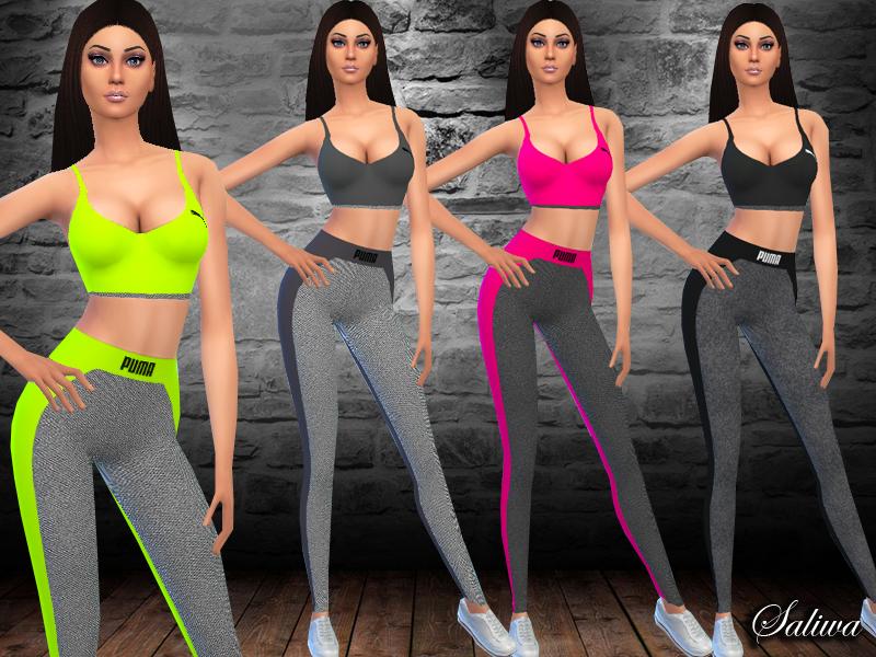 Saliwa s puma fitness outfit