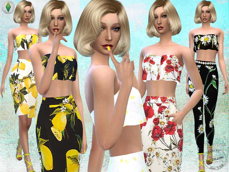 Fritzie Lein's Floral Printed Outfit Set