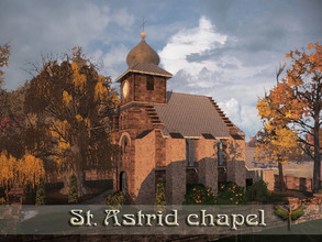 Sims 3 — St. Astrid Chapel by fredbrenny — Weddings and funerals are held in this tiny little chapel. The romance oozes