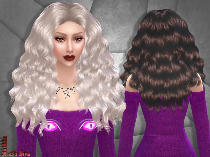 Woman Hair _ Long Hairstyle Fashion The Sims 4 _ P12 ...