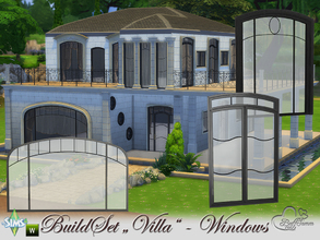 Sims 4 — Build-A-Villa Windows and Doors by BuffSumm — Your Sims love a luxury lifestyle? Go ahead and build them a