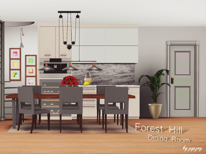 Pyszny16 39 s forest hill dining room for Sims 3 dining room ideas
