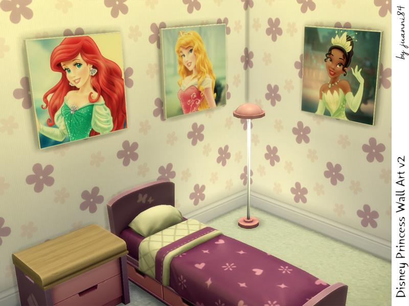 juanni84\'s Disney Princess Wall Art for Kids Set