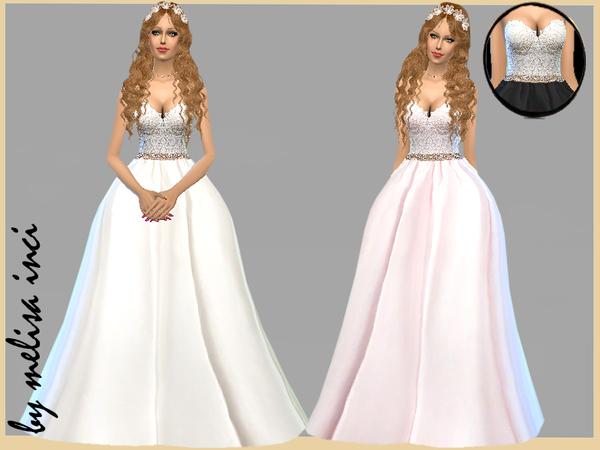 Melisa Inci's Strapless Lace Bodice Wedding Dress