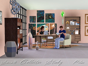 Sims 3 — Collector Study by Pilar — Mix of styles, current furniture, a vintage note and an exotic touch