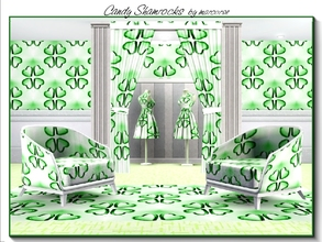 Sims 3 — Candy Shamrocks_marcorse by marcorse — Themed pattern: heart candies in a shamrock design for St. Patrick's Day