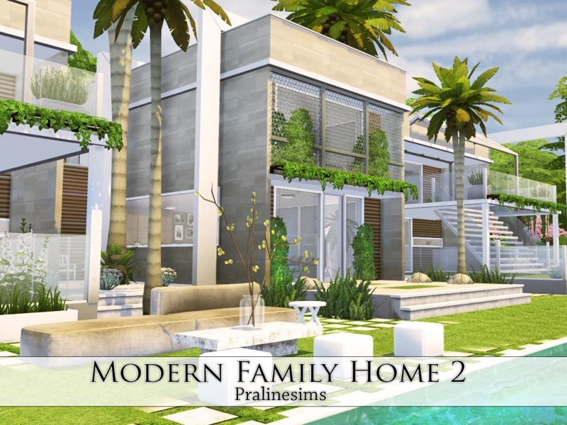 Pralinesims 39 modern family home 2 for Modern family house 90210