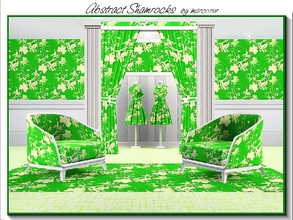 Sims 3 — Abstract Shamrock_marcorse by marcorse — Abstract pattern: abstract design of shamrocks and style elements in