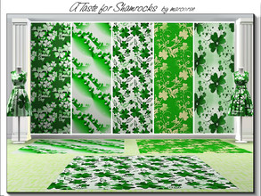 Sims 3 — A Taste for Shamrocks_marcorse by marcorse — Five Irish themed patterns for St. Patrick's Day celebrations. All