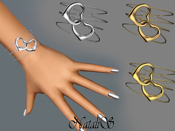 NataliS TS3 Two heart bracelet FT-FA