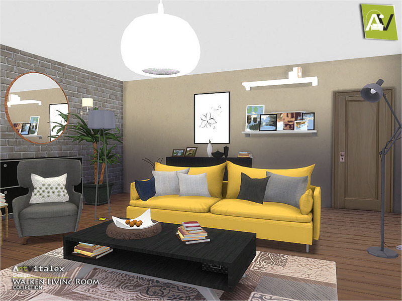 Artvitalex 39 s walken living room for Sims 4 living room ideas