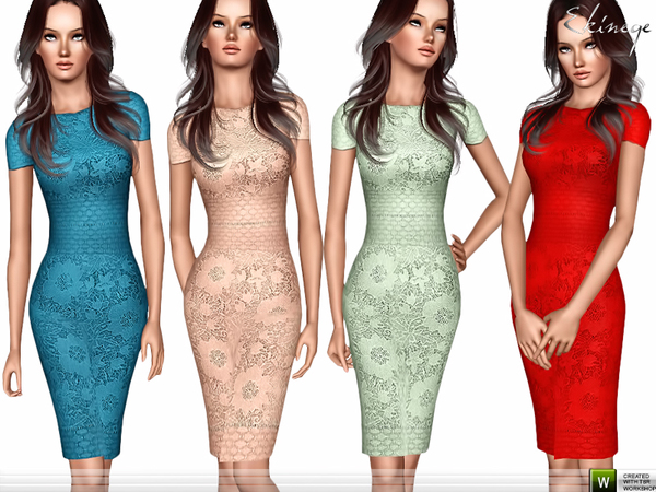 Lace Pencil Dress by ekinege