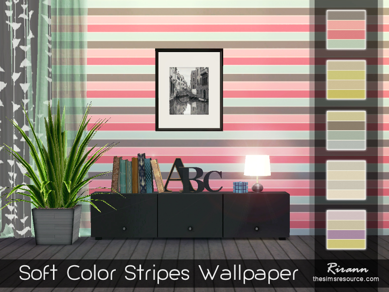 Rirann\'s Soft Color Stripes Wallpaper