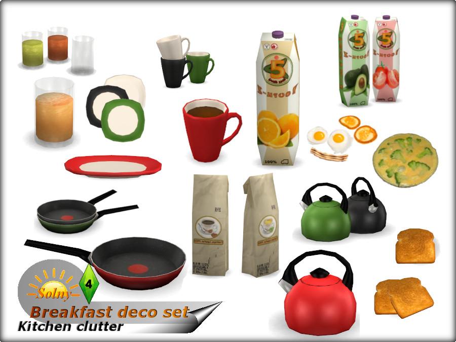 Solny S Breakfast Decorative Set