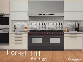 Sims 3 — Forest Hill Kitchen  by pyszny16 — Forest Hill Kitchen is continuation for Dining Room. Kitchen is in the same