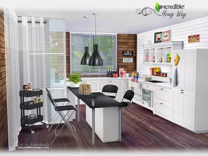 simcredible 39 s young way kitchen. Black Bedroom Furniture Sets. Home Design Ideas