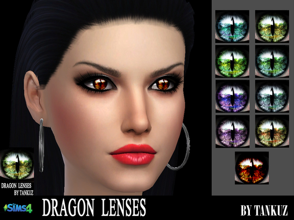 The Sims 4 Dragon Lenses By Tankuz