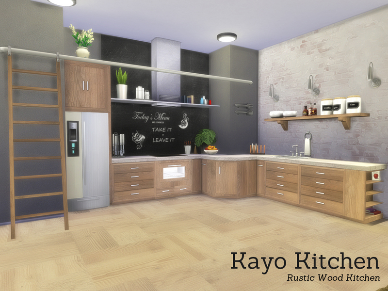 Angela 39 s kayo kitchen for Cc kitchen cabinets