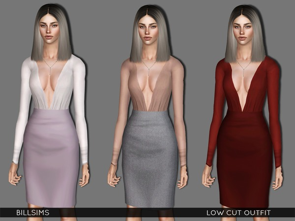 Low Cut Outfit by Bill Sims