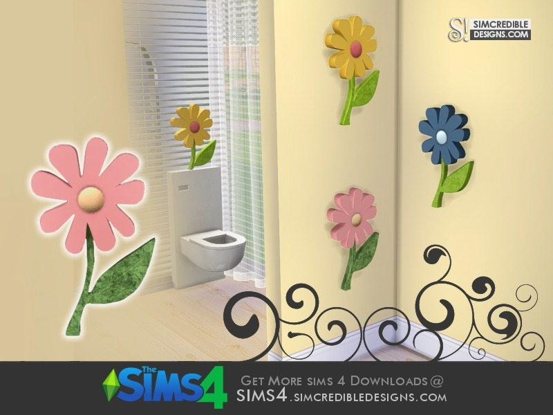 simcredible 39 s little bubbles wall flower 1. Black Bedroom Furniture Sets. Home Design Ideas