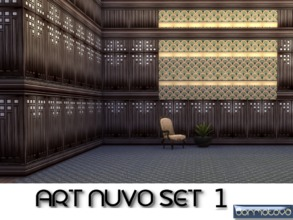 Sims 4 — Art Nuvo Set 1 by abormotova2 — From a set of 15 walls and panels. Art Nuvo was highly decorative which I love