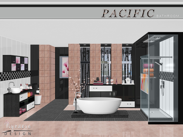 Nynaevedesign 39 s pacific heights bathroom for Bathroom ideas sims 3