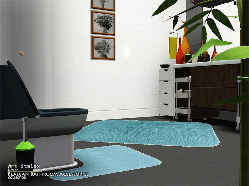 Artvitalex 39 s bladjan bathroom accessories for Bathroom decor sims 3