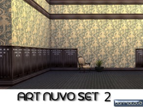Sims 4 — Art Nuvo Set 2 by abormotova2 — Set 2 of vintage art nouveau walls which include 15 styles from the late 1800s