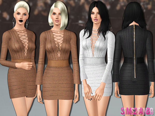 446 - Designer dress by sims2fanbg