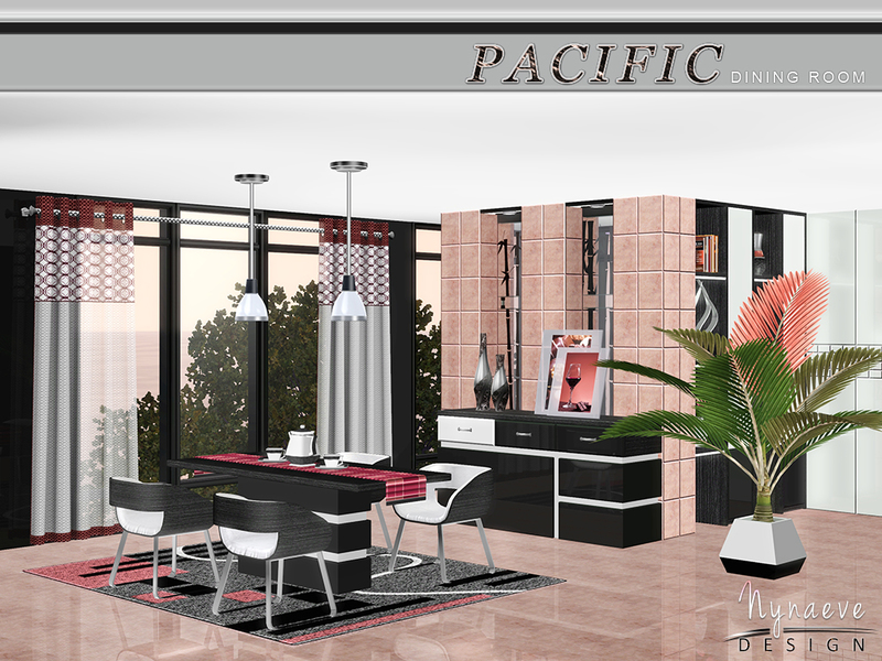 Nynaevedesign 39 s pacific heights dining room for Sims 3 dining room ideas