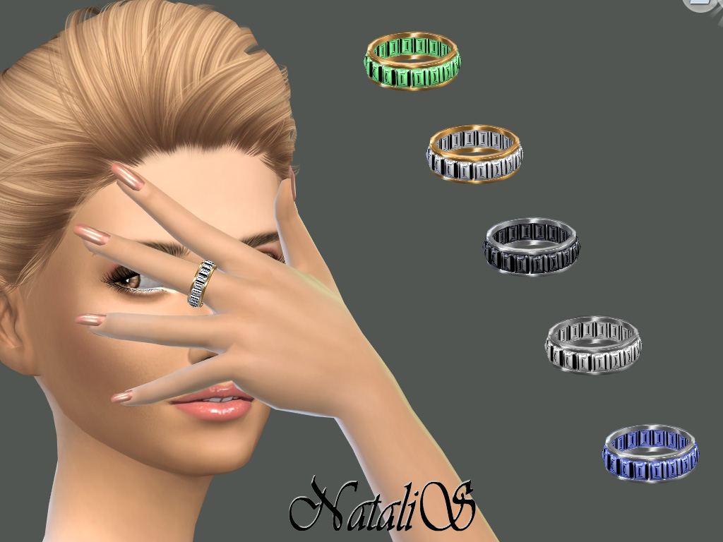 NataliS_Baguette crystals ring