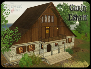 Sims 3 — Garin Estate by murfeel — This fine manor sits on sprawling lands complete with a barnyard, gardens, a stocked