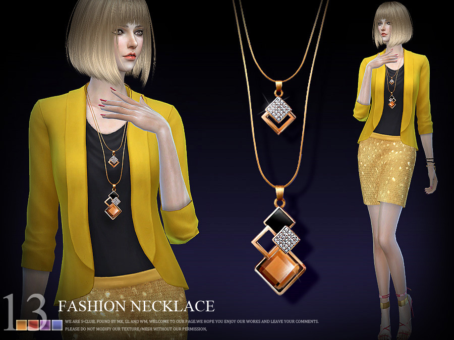 S-Club LL ts4 necklace  N13  for Sims 4