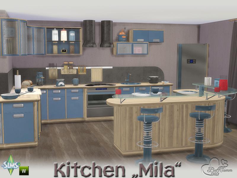 Buffsumm 39 s kitchen mila for Kitchen set sims 4