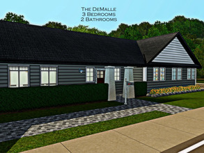 Sims 3 — The DeMalle -- 3BR, 2BA by sweetpoyzin2 — It's a little outdated but it's cheap! 3 bedroom ranch house with room