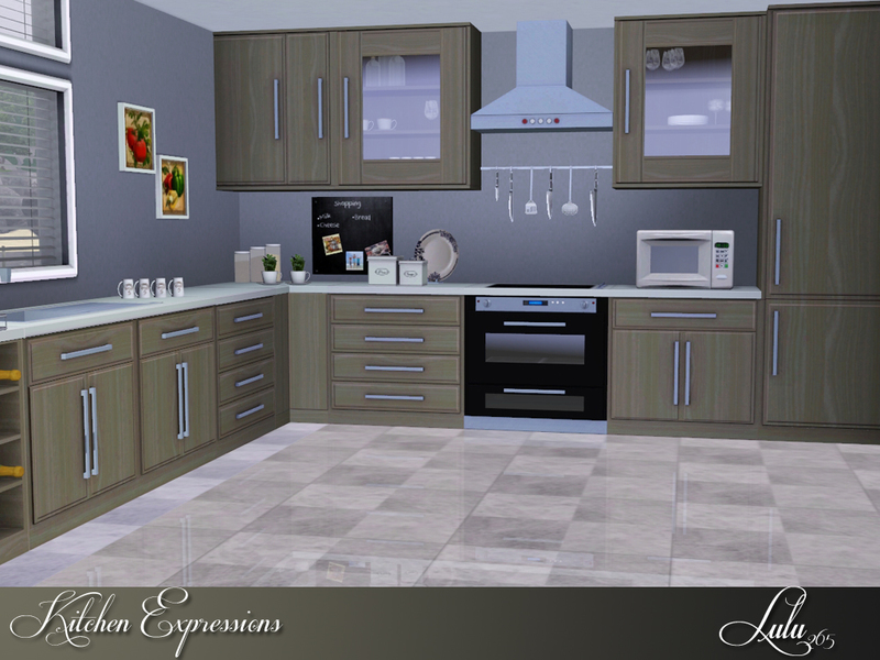 Lulu265 39 s kitchen expressions for Kitchen designs sims 3