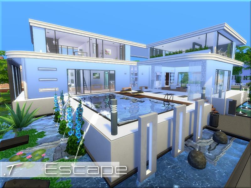 Torque 39 s escape for Modern house design the sims 4