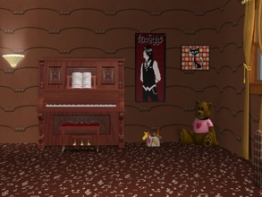 Sims 2 — Musical Notes-Brown Carpet by allison731 — Brown carpet with musical notes.Combined pattern with notes +