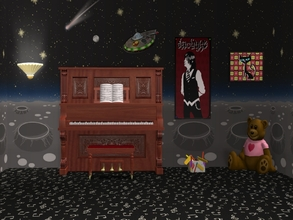 Sims 2 — Musical Notes-Black Carpet by allison731 — Black carpet with musical notes.Combined pattern with notes +