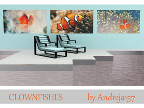 Sims 3 — Clownfishes by Andreja157 — - set of 3 paintings (in 3 files) - created with TSRW from EA mesh (Into the Future)