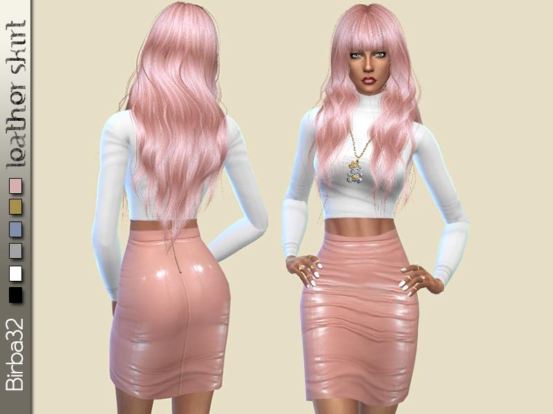 Birba32 S Leather Skirt