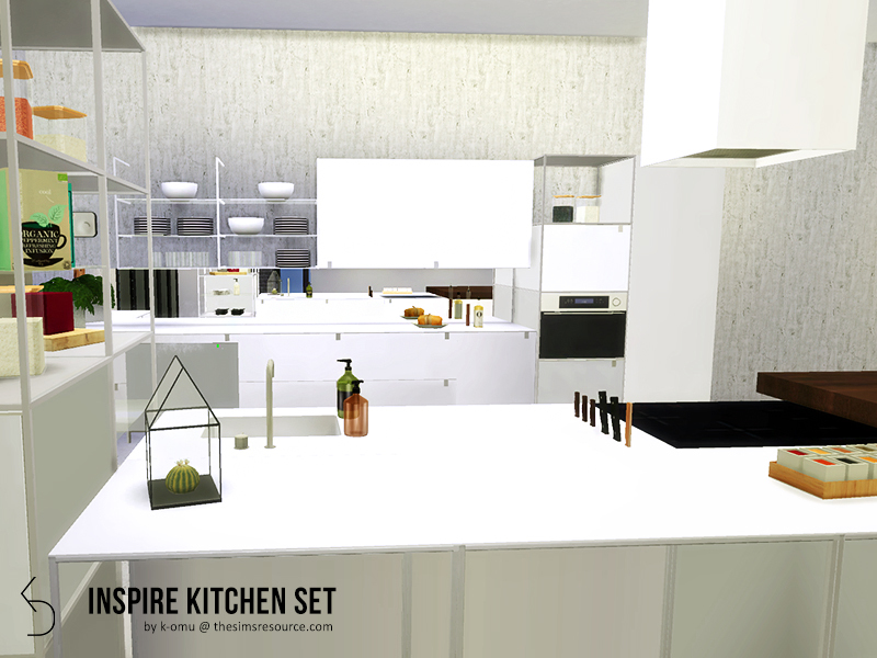 sims 4 kitchen cabinets download k omu s inspire kitchen set 26147